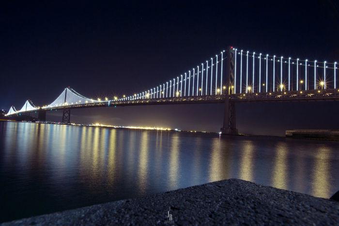 Oakland Bay Bridge California Canon 6D Lights Photography