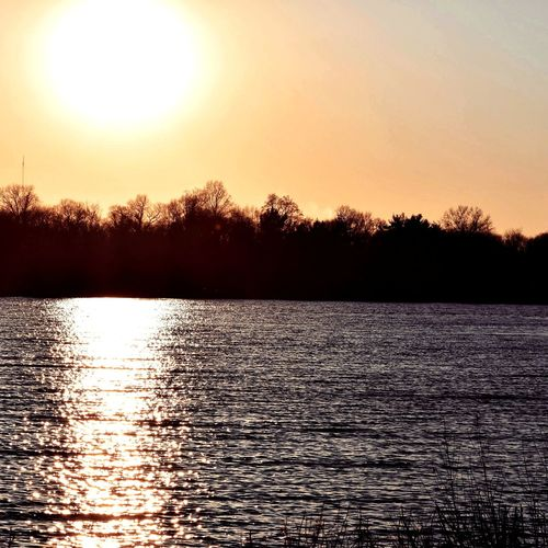 Sunset over Cooper River Park. Nature Sunlight Lake Landscape Scenics Backgrounds Outdoors Beauty In Nature