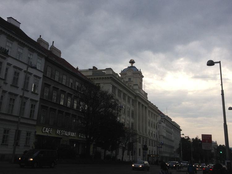 Building Exterior City City City Life Cloud - Sky Evening Street Viena, Austria