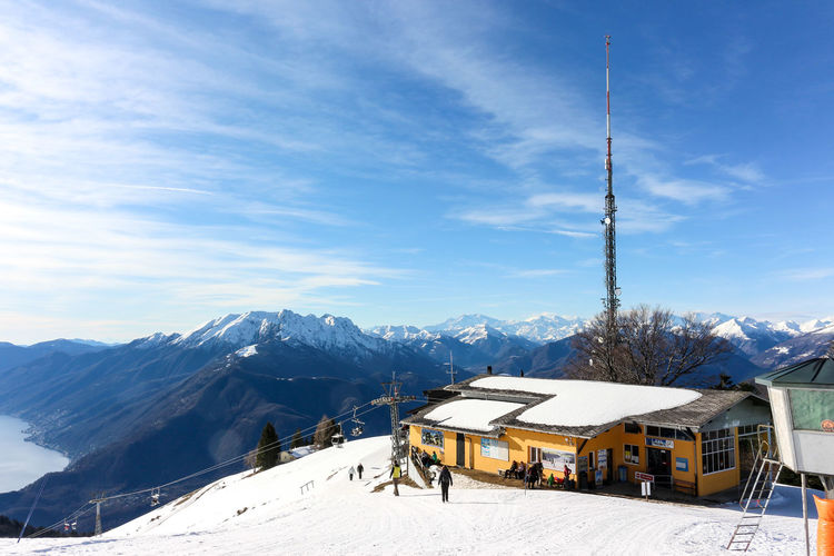Ropeway station above locarno