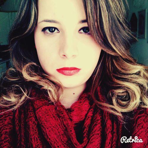 Blonde Hair Blonde Girl Bronde Brondehair Eyes Curly Hair Red Lips ??????