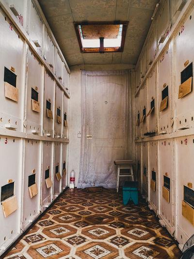 Interior of old locker room