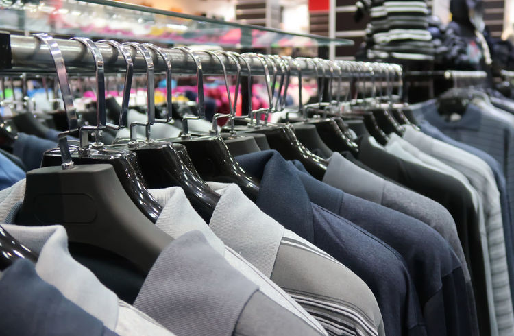 Boutique Fashion Market Arrangement Choice Close-up Clothes Clothing Clothing Store Coathanger Collection Fashion Hanging In A Row Large Group Of Objects Multi Colored No People Polo Shirt  Rack Retail  Retail  Retail Display Shop Store Variation