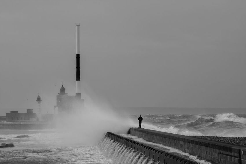 Digues Le Havre Port - Sea Sky Storm Tempête Water Waves, Ocean, Nature People Of The Oceans