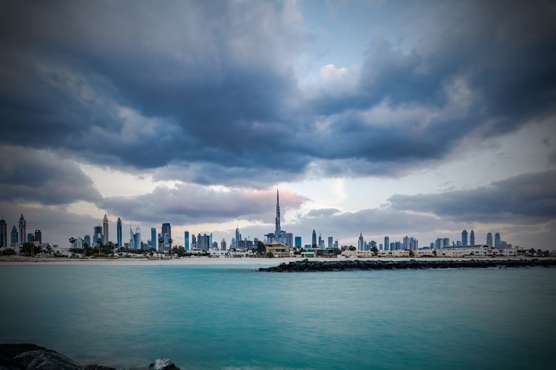 Cloudy day, DUBAI, United Arab Emirates 🇦🇪 Cooy Space Wide Angle Weather Emirates Dubai Clouds And Sky Sky Cloud - Sky Sky Water Building Exterior Architecture Built Structure Building Sea Waterfront City No People Travel Destinations Cityscape Outdoors Skyscraper Travel