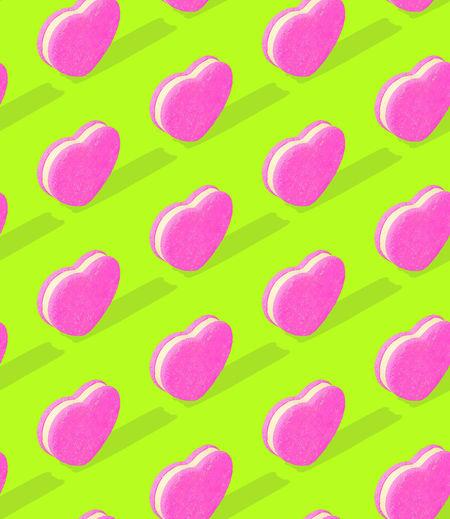 Full frame shot of multi colored heart shape