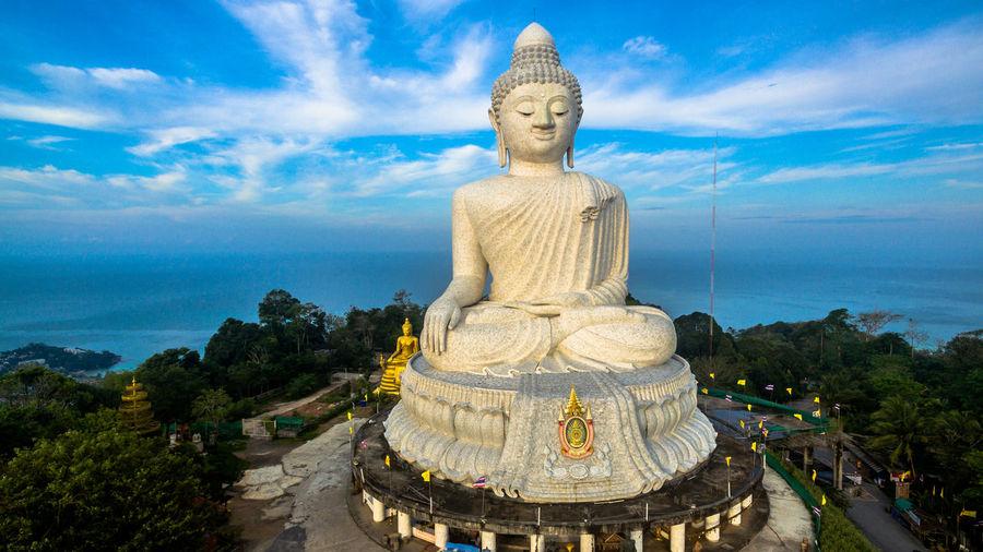 Giant Buddha Statue Against Sky