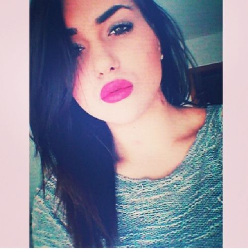 Model Woking Out Can I Be Cute Lips #love #smile #pink #cute #pretty