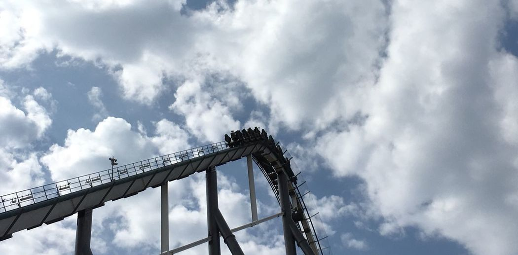 Mix Yourself A Good Time Low Angle View Cloud - Sky Sky Connection Outdoors Day No People Built Structure Architecture Nature Portaventura PortAventura 🎢 Shambala Roller Coaster The Week On EyeEm Mix Yourself A Good Time Summer Exploratorium