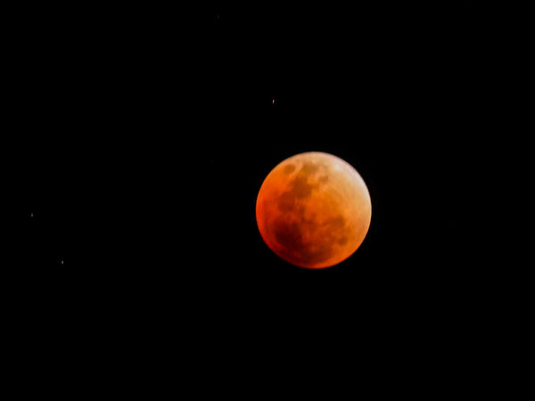 blood moon Blood Moon 2018 Moon Astronomy Full Moon Night Moon Surface Eclipse Orange Color