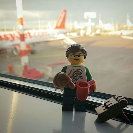 Coffee and croissant for breakfast, now to catch my flight. Amsterdam, you have been lovely. LEGO Legophotography Legominifigures Iamsterdam Schipolairport