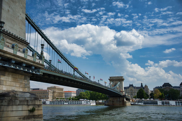 Partner Collection Chain Bridge Of Budapest Chain Bridge, River Danube, Chain Bridge Budapest Danube In Budapest Budapest Budapest, Hungary Széchenyi Bridge City Water Cityscape Tree Bridge - Man Made Structure River Downtown District Urban Skyline Sky Cable-stayed Bridge Engineering Chain Bridge