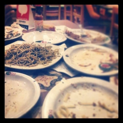 Taob lahat except the PESTO! Hahahaha.. salamat bebe and dad! :** Bigoli Trinoma TourofItaly