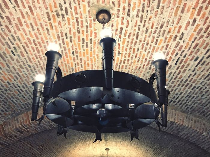 EyeEm Selects Brick Wall Indoors  No People Chair Day Close-up Chandelier