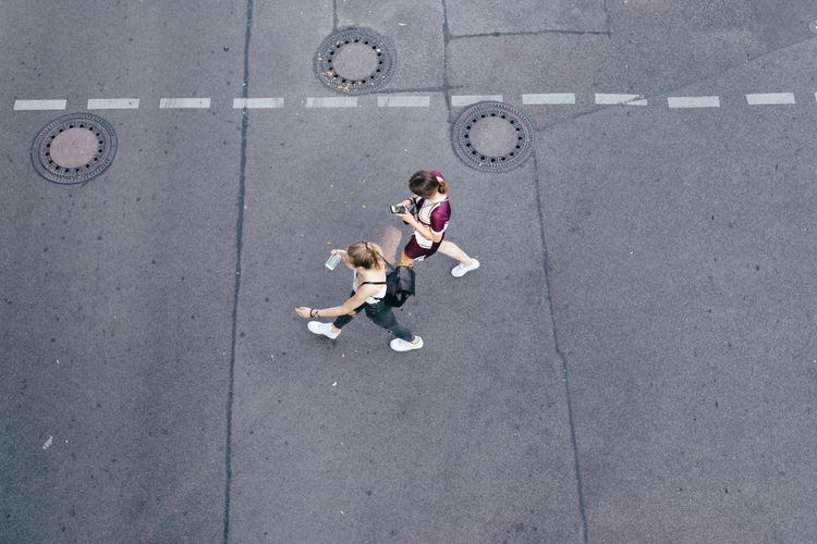 Day From Above  From My Point Of View Girls High Angle View Outdoors People Street Two People Unrecognizable Person Walking The Street Photographer - 2017 EyeEm Awards