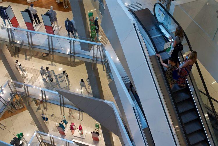Shopping Escalator Mall Melbourne Leicacamera Shoppers