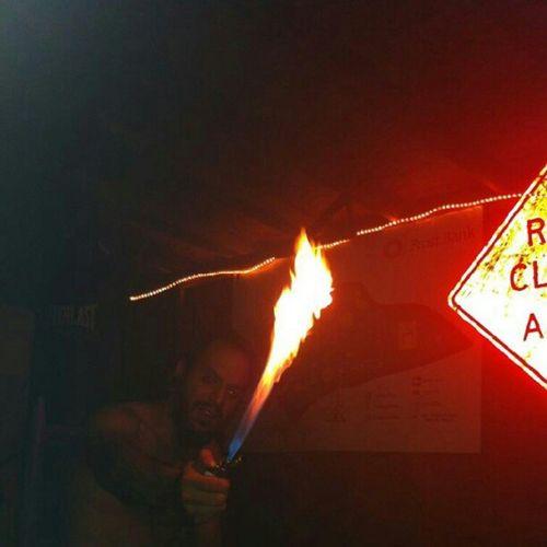 Nofilter Pyro Maniac Roadsign RoadClosedAhead punchingBag
