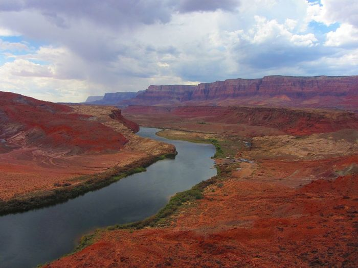 A stormy day at Lees Ferry. Looking toward the Vermilion Cliffs. Arizona Cliffs Beauty In Nature Canyon Cloud - Sky Geology Idyllic Landscape Nature Non-urban Scene Outdoors River Scenics Sky Storm Clouds Tranquil Scene Tranquility Travel Destinations Water Lost In The Landscape EyeEmNewHere Colorado River Lees Ferry Vermilion Cliffs Perspectives On Nature The Great Outdoors - 2018 EyeEm Awards