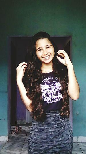 Moça sorriso no rosto sempre❤✨ First Eyeem Photo