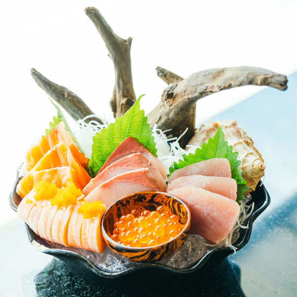 Close-up Cold Temperature Day Fish Food Food And Drink Freshness Healthy Eating Ice Indoors  No People Raw Food Ready-to-eat Salmon Seafood Serving Size SLICE Still Life Table White Background