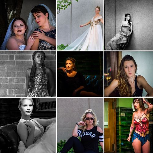 Greatest Hits Adult Females Portrait Collage Human Body Part Women Young Women Smiling Multiple Image Happiness