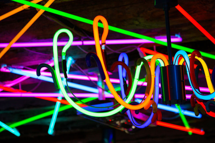 Close-up of multi colored lights