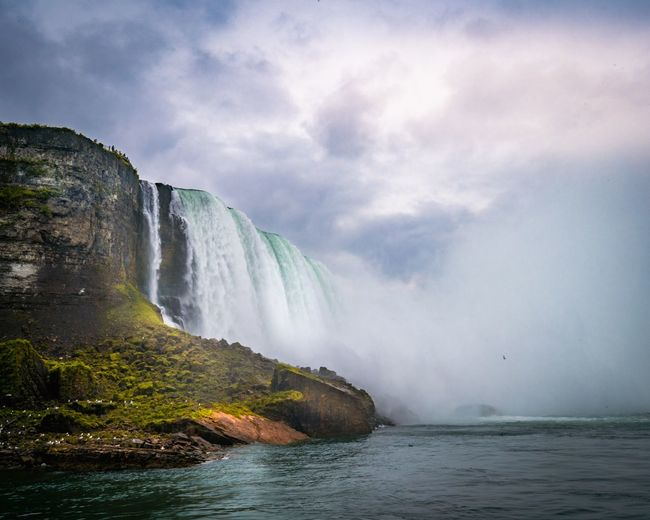 Beautiful Niagara Falls Water Beauty In Nature Scenics - Nature Waterfall Motion Sky Environment Nature Cloud - Sky Power In Nature Travel Destinations Outdoors Flowing Water