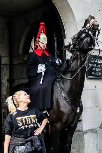 Horse Guard Real People Lifestyles Women Men People Adult Two People The Art Of Street Photography The Street Photographer - 2019 EyeEm Awards The Street Photographer - 2019 EyeEm Awards