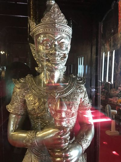 molded figure Giant made from silver, temple,culture ,handcraft Thai Art Models Art Chiangmai,Thailand Molded Figure Handcraft First Eyeem Photo