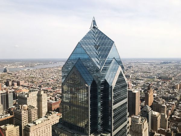 Liberty Tower Philadelphia Philly Skyscraper Skyline City Cityscape Architecture Aerial View Aerial Shot