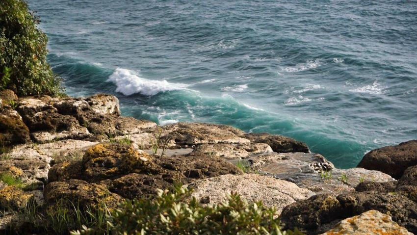 Italy Sardinia Sony Sonyalpha Sony A6000 Nature Sea Water Rock - Object Wave Beauty In Nature Tranquil Scene Beach Outdoors Day No People Tranquility Scenics Horizon Over Water