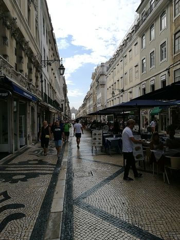 Lisboa Rua Augusta City Store Awning Street Old Town Sky Architecture Building Exterior Built Structure