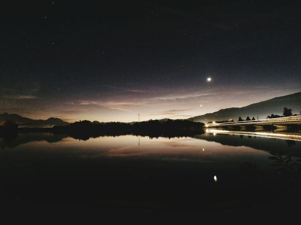 Goodnight world Night Reflection Lake Astronomy Beauty In Nature Moon Nature Water Outdoors Landscape Clear Sky Gopro Goprooftheday Goprophotography Gopro Shots Goprohero5 Goproblackedition Tranquility First Eyeem Photo