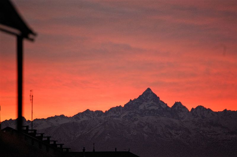 My magic city Monviso Mountain Nikon Alps Italy Mountain Peak Mountain View Beautiful Sky Snowcapped Mountain Cold Temperature Winter From The Balcony City Sunset Mountain Sky Snow Covered Cold Majestic Romantic Sky Infinity Weather Atmospheric Mood Mountain Range My Best Photo