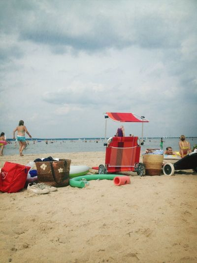 Badefreuden! Summer Enjoying The Sun Swimming