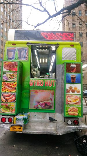 gyro hut: chicken, not chicken. photo by Shell Sheddy Vendor Streetphotography Street Documentary Photography Shellsheddyphotography Sheshephoto Food Truck The Street Photographer - 2018 EyeEm Awards The Photojournalist - 2018 EyeEm Awards Gyros Pidgeon  Multi Colored Text Vehicle Street Scene Streetwise Photography
