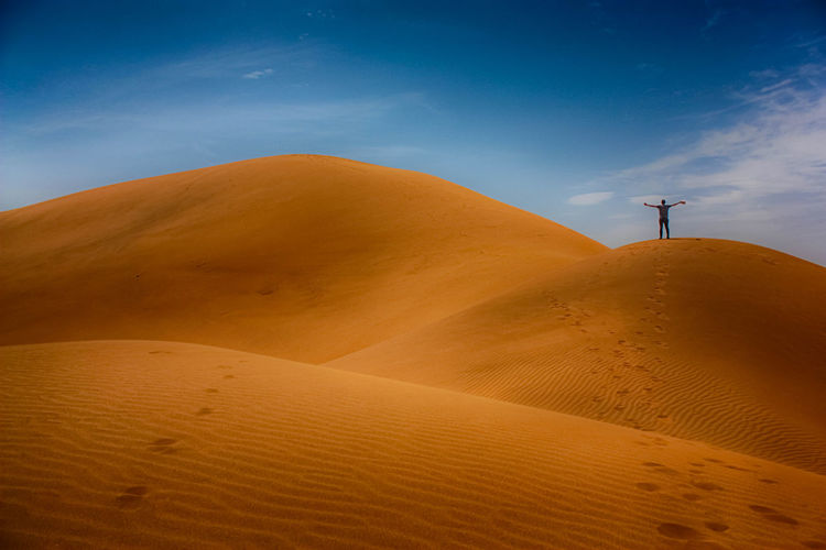 Deserts Around The World Dunes Nature Zagora Beauty In Nature Landscape Sand Sand Dune Tranquility Travel Destinations