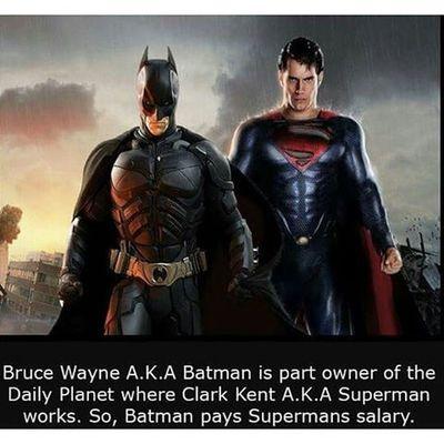 Batmanvsuperman DCcomic Superhero Pixlr LOL Facts