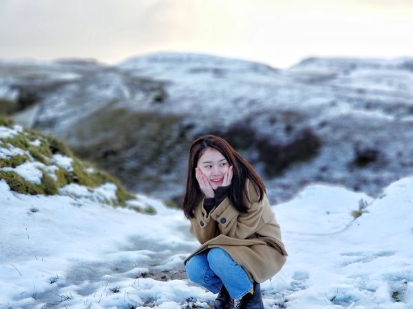 girl friend~~~ Beauty One Person Adult Landscape Nature Snow People