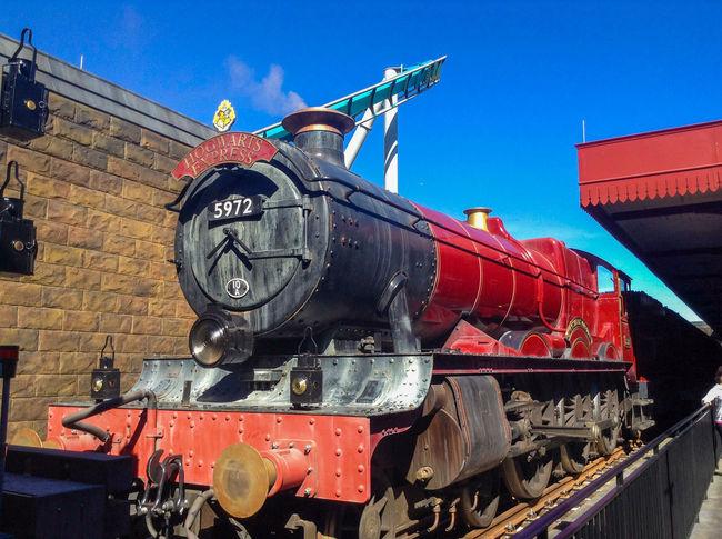 Red Train Train Station Hogwarts Express Done That. Wizarding World Of Harry Potter Orlando Florida Universal Studios