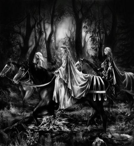 Lordofthering Night Netflixnight Black & White Cityscape Art And Craft Galaxy Costume Mythology Tranquil Scene Painted Image XboxOne Arts Culture And Entertainment Lifestyles