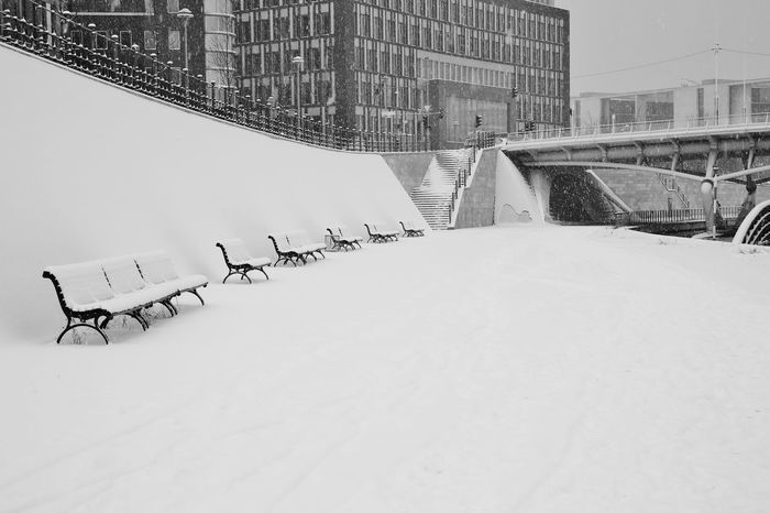 Architecture Bank Berlin City Cold Temperature Day Extreme Weather Frozen Mitte No People Outdoors S/w Schnee Snow Snowing Trzoska Winter Winter