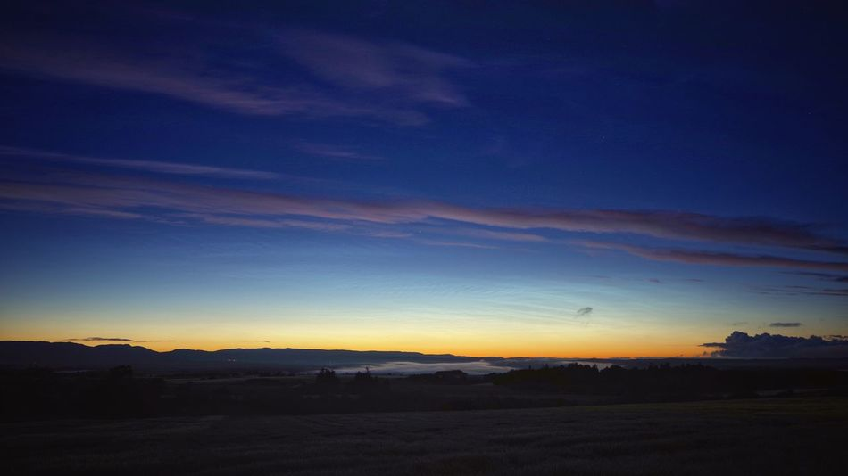 Noctilucent Cloud and mist, Strathearn Tranquility Sky And Clouds Sky Scotland 💕 Rural Scene Noctilucent Cloud Nlc Night Nature Photography Nature Long Exposure Landscape_photography Landscape_Collection Landscape Cobalt Blue Beauty In Nature Astrophotography Perthshire