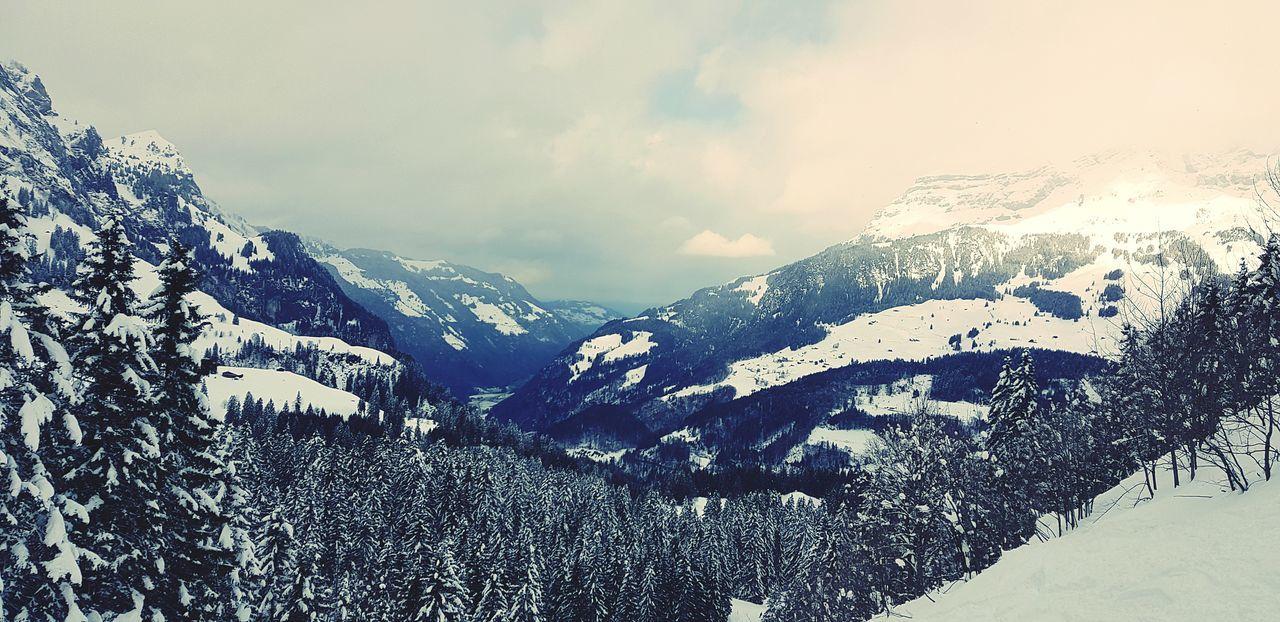 Mountain Snow Winter Cold Temperature Sky Mountain Range Snowcapped Mountain Ski Track Scenics Deep Snow