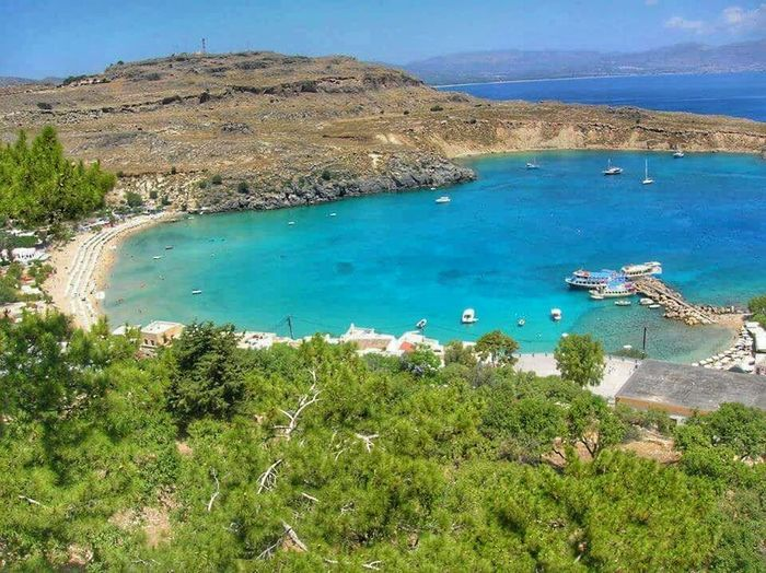 Landscape Landscape_photography Scenery Bay Beach Rhodes Rhodos Landscape_photography Sea And Sky Wanderlust Landscapes With WhiteWall The KIOMI Collection Blue Wave