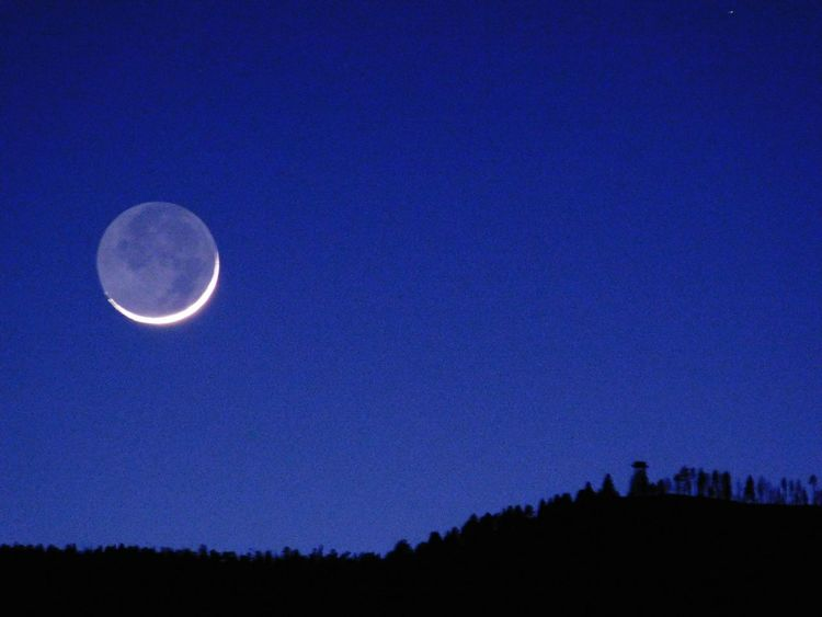 Moon Nature Blue Astronomy Night Sky No People Beauty In Nature Scenics Tranquil Scene Moonset Tree Outdoors Tranquility Newmexicoskies NewMexicoTRUE Newmexicophotography Newmexicomountain Newmexicoskys Moon Moonphotography Moon Shots Moonshot Moon Crescent MoonScape