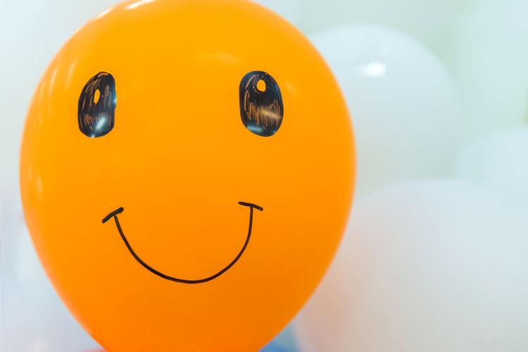 Close-up of orange balloon