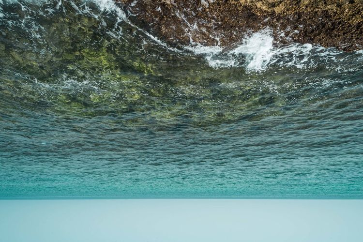 Oman Chapters Water Sea Beauty In Nature Scenics - Nature No People Day Rock Nature Rock - Object Motion Blue Outdoors Tranquility Waterfront Solid Idyllic Aquatic Sport Tranquil Scene Sport Turquoise Colored