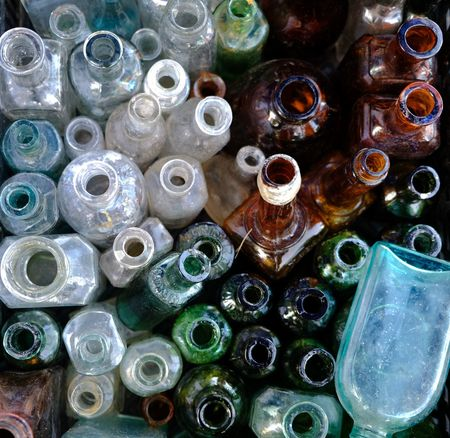 Antique Glass Old Glass Backgrounds Bottle Bottles Bottles Collection Brocante Flea Market Fleamarket Glass Bottle Glass Bottles Glass Pattern Glass Surfaces Glass Texture Glassware Large Group Of Objects Multi Colored Old Glass Bottle Recycling Recycling Center Variation