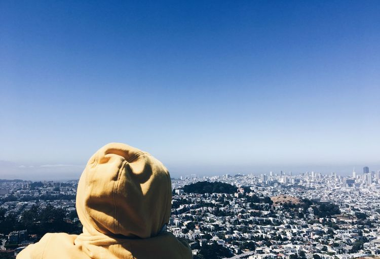 EyeEmNewHere Cityscape Building Exterior City Architecture Clear Sky Statue Built Structure Day Outdoors Sky No People Close-up Coin-operated Binoculars Gargoyle San Francisco EyeEm Selects Sommergefühle Paint The Town Yellow This Is Aging Summer Exploratorium Adventures In The City